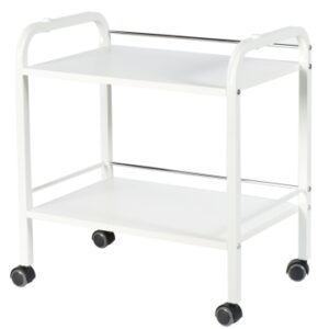 Table roulante Anna 2 niveaux blanc