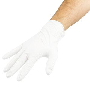 Witte nitrile handschoenen – Latex-vrij